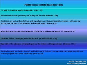 7 Faith Bible Verses 1-20-14